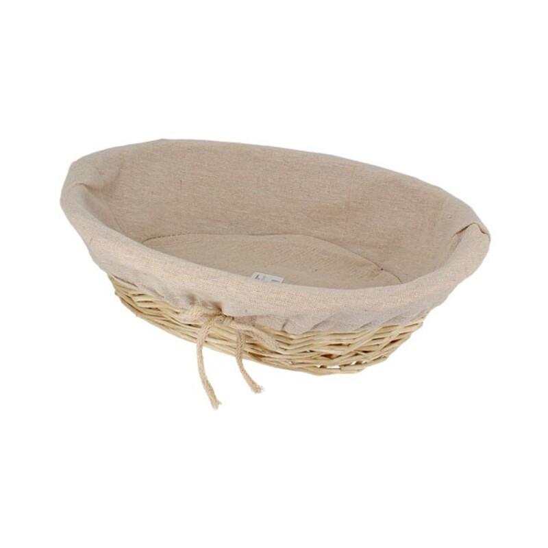 Corbeille à pain ovale entoilée 31 x 24 cm