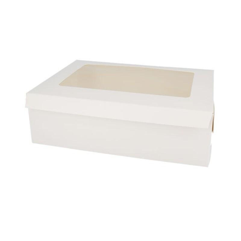 Boîte 6 cupcakes blanche 24 x 16 cm Patisdécor