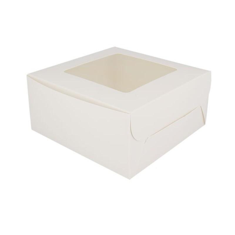 Boîte 4 cupcakes blanche 16 x 16 cm Patisdécor