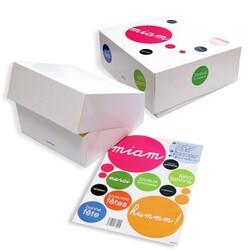 Boîte pâtissière stickers personnalisable