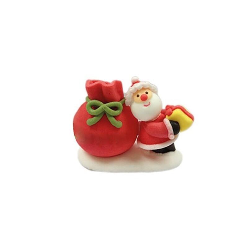Décor Père Noël et sa hotte