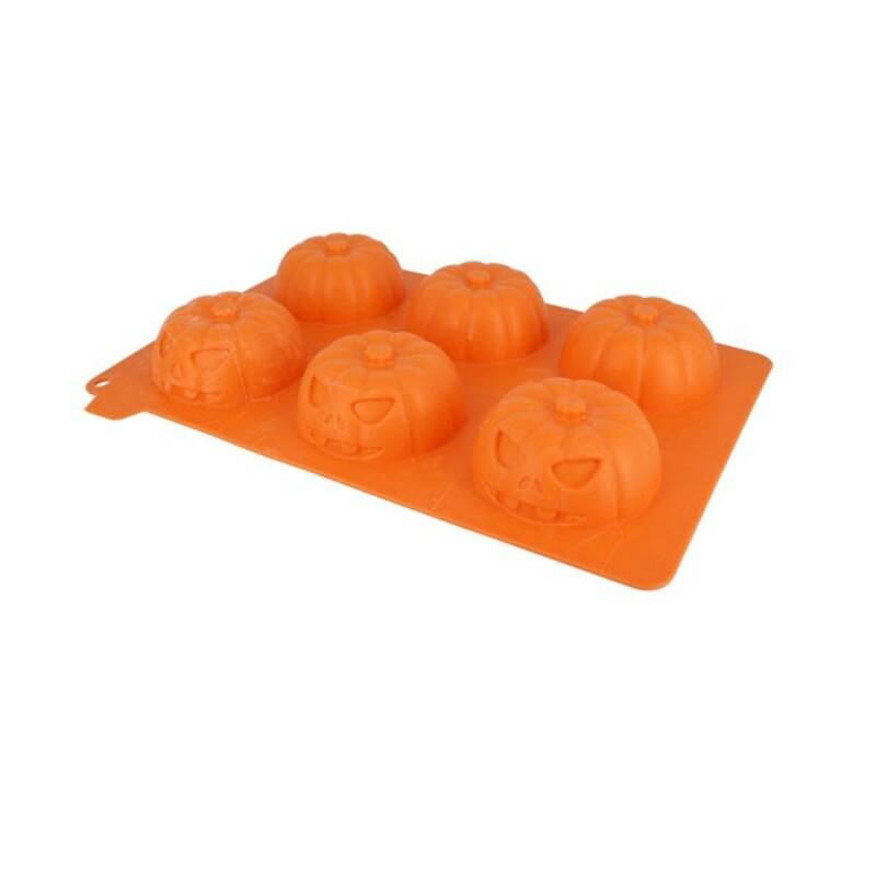 Moule silicone 6 citrouilles 3D Patisdécor