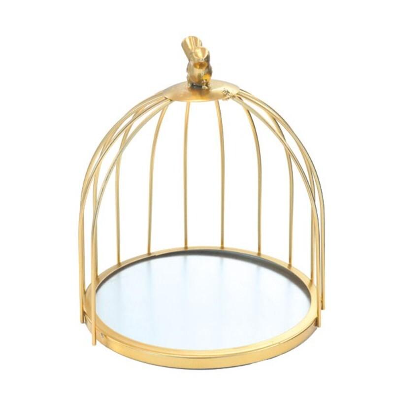 Présentoir cage à oiseaux doré Patisdécor 21 cm