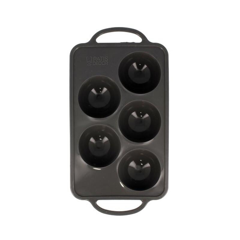 Moule silicone 5 demi-sphères Ø 8 cm Patisdécor