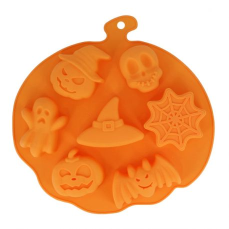 Moule Silicone 7 Empreintes Sujets d'Halloween