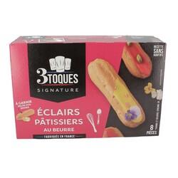 Eclairs pâtissiers au beurre (x8)