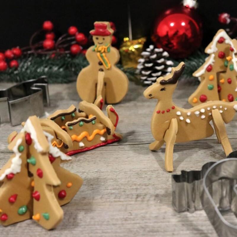 Kit emporte-pièces biscuits de Noël 3D Patisdécor