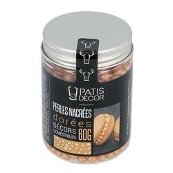 Décors perles dorées comestibles Patisdécor