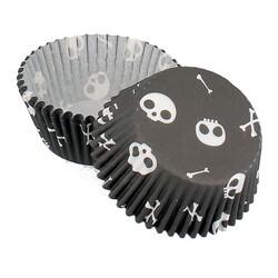 Caissette cupcake Halloween Têtes de mort (x 50)