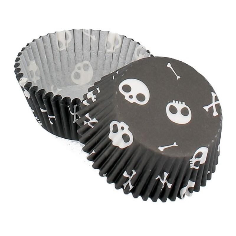 Caissette cupcake Halloween Citrouille (x 50)