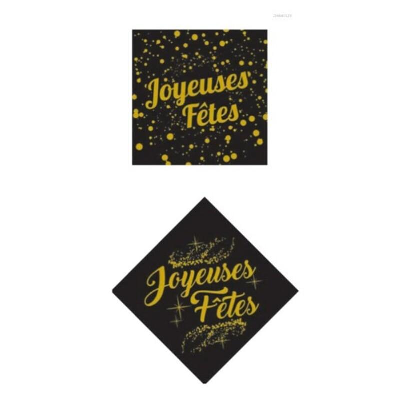 Carrés azyme Joyeuses Fêtes (x24)