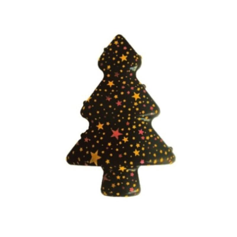 Sapins décorés 3D en chocolat  (x72)
