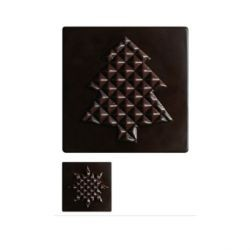 Embouts de Bûche Chocolat Capitonné (x36)