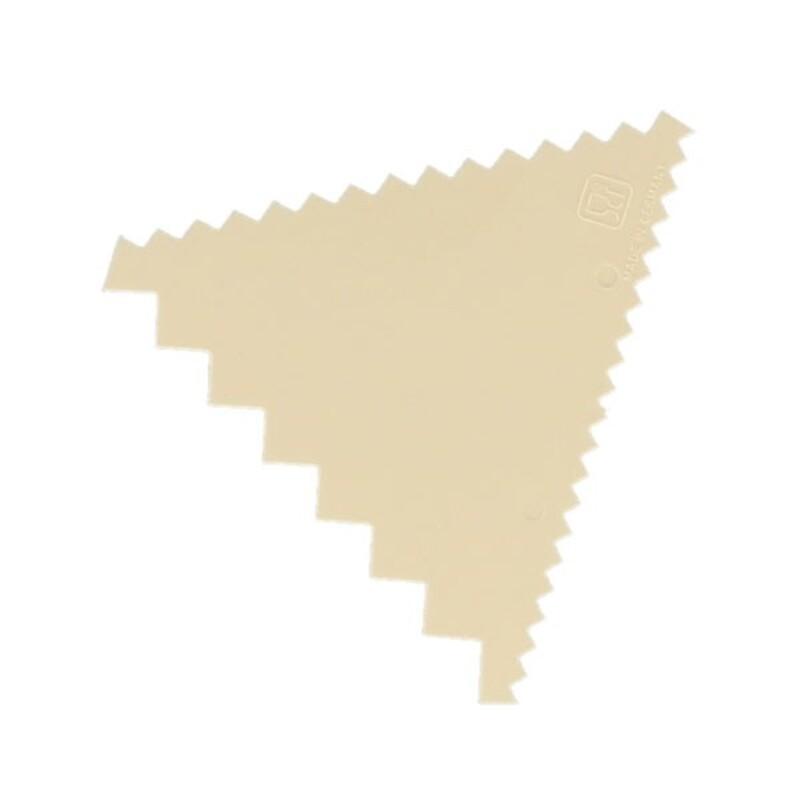 Peigne à décor triangle en plastique