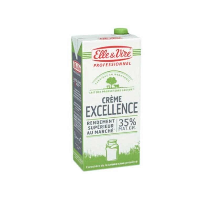 Crème liquide UHT Excellence 35% M.G. Elle & Vire Professionnel 1 L