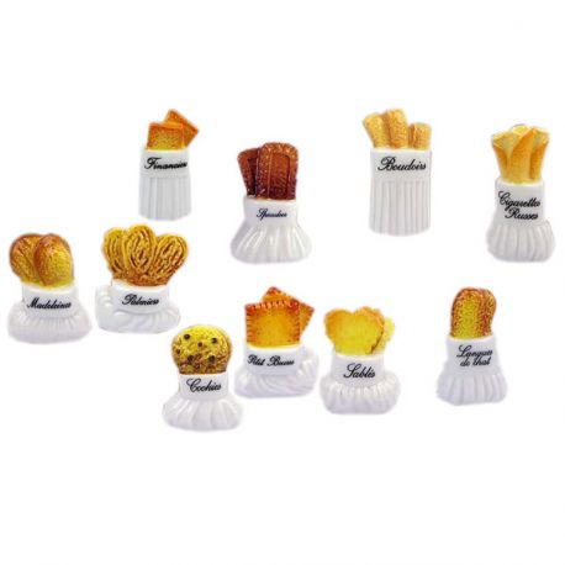 Fèves Toques & Biscuits assorties (x 100)