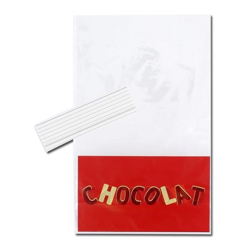 Sachets Chocolat + liens 14 x 23 cm (x10)