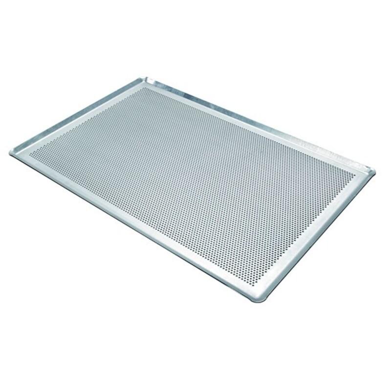 Plaque de cuisson perforée alu 60 x 40 cm