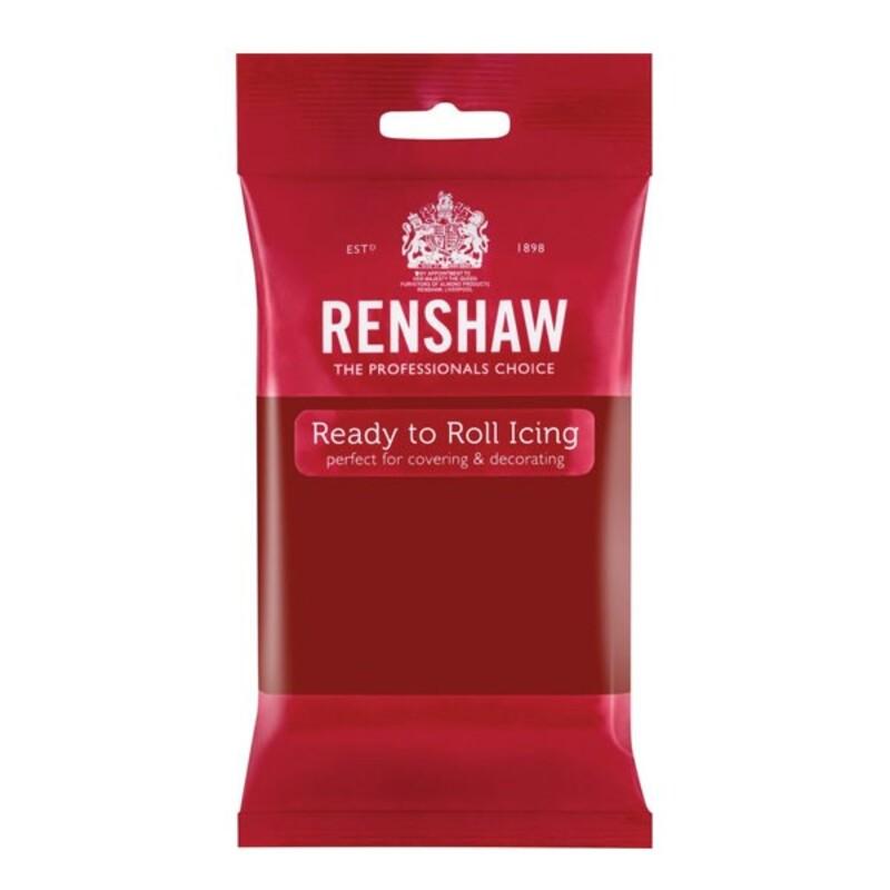 Pâte à sucre rouge rubis Renshaw 250 g