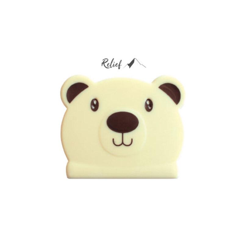 Embouts de bûches en chocolat blanc Tête d'ours (x54)