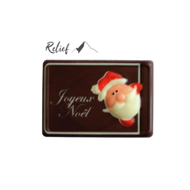 Rectangles Père Noël relief chocolat (x50)