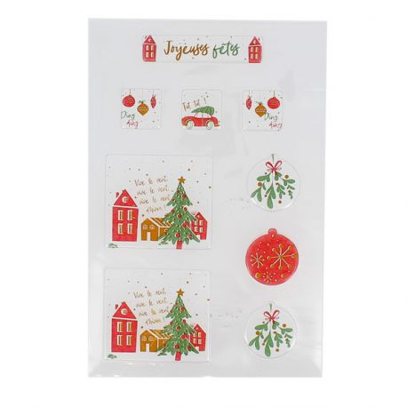 Transfert chocolat thème Village de Noël