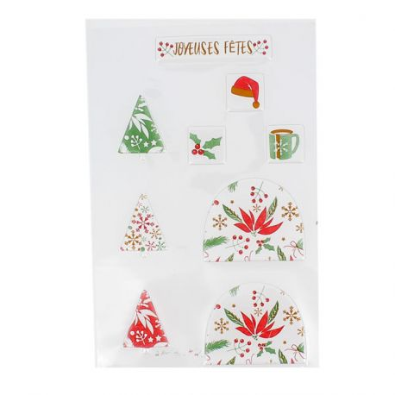 Transfert chocolat thème Noël