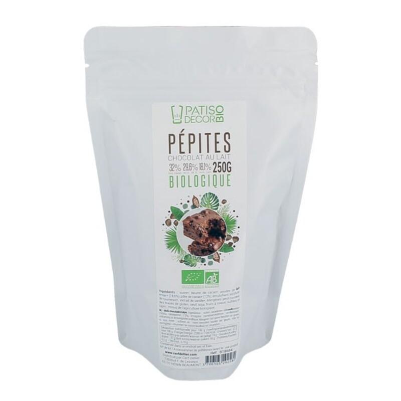 Pépites de chocolat au lait Bio 250 g Patisdécor