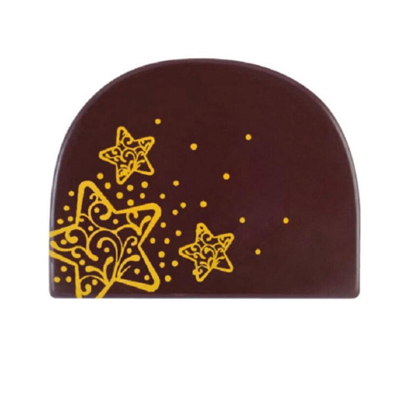 Embouts de bûches en chocolat noir Etoiles (x42)