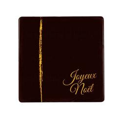 Embouts de bûches carrés chocolat noir Joyeux Noël (x90)