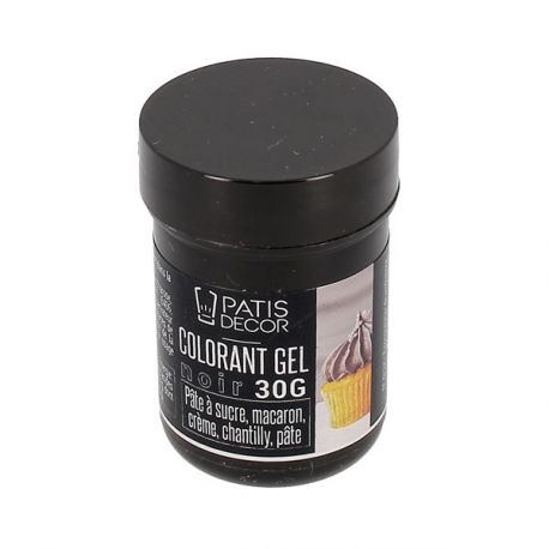 Colorant gel noir Patisdécor