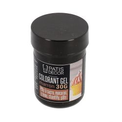 Colorant gel marron Patisdécor