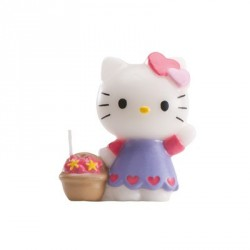 Bougie Hello Kitty sur pique