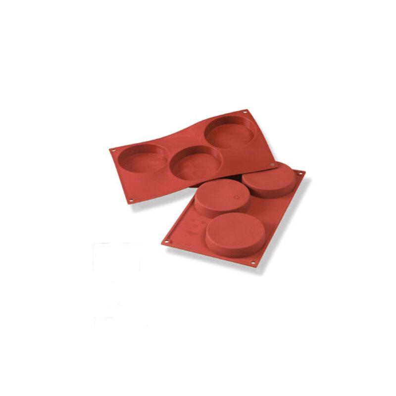 Moule silicone 3 empreintes rondes Ø 10 cm