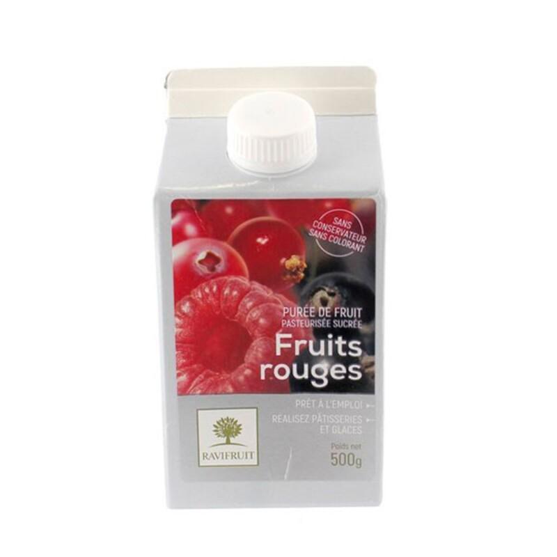 Purée de fruits rouges 500 g