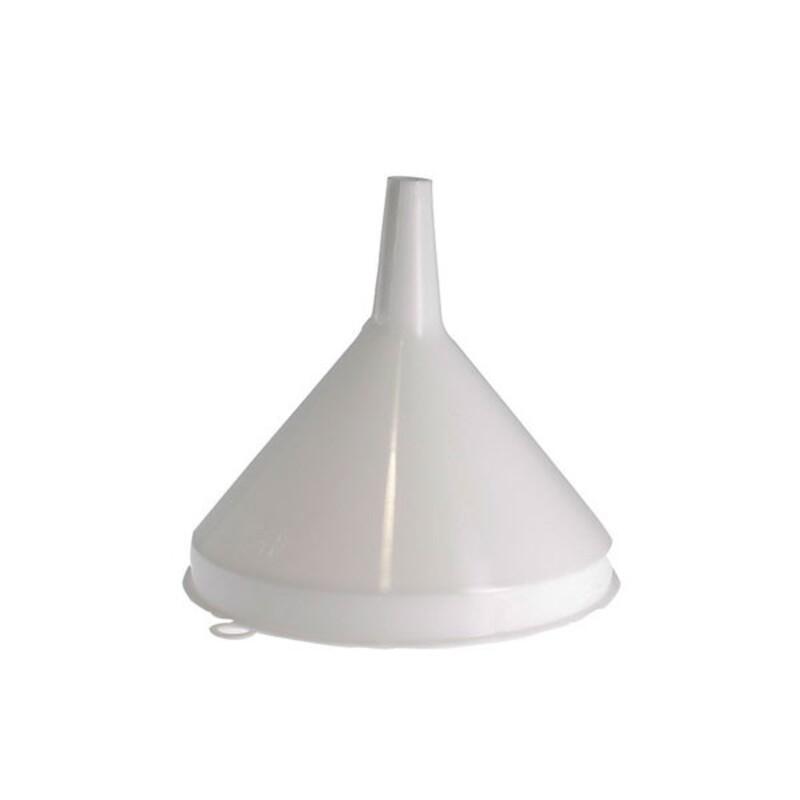 Entonnoir en plastique blanc