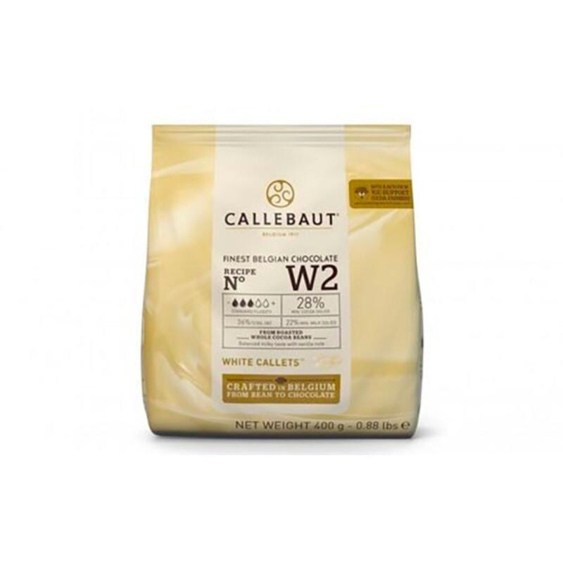 Chocolat blanc W2 pistoles Callebaut 400 g