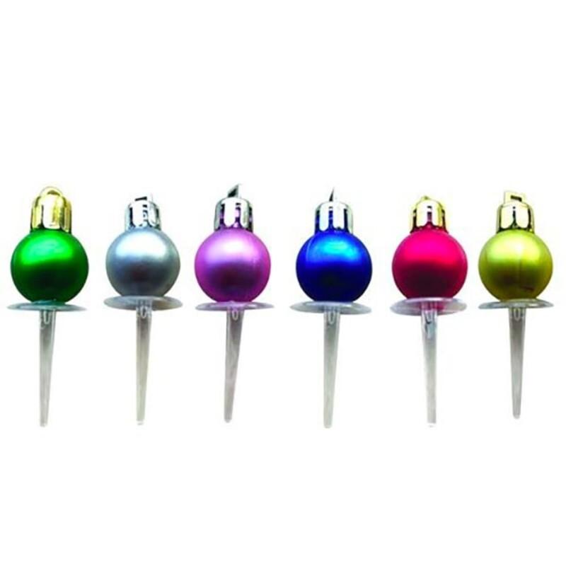 Décors boules de Noël mates assorties (x24) Patisdécor
