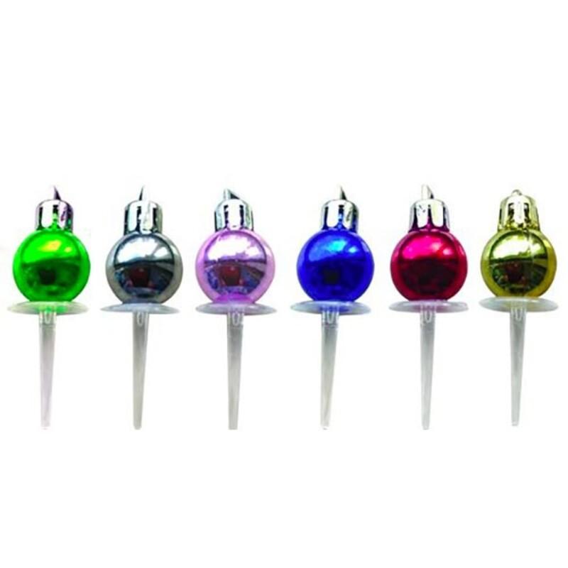 Décors boule de Noël assorties (x24) Patisdécor