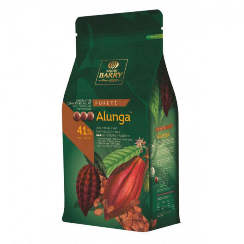 Chocolat de couverture au lait Alunga 5 Kg