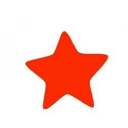 Décors chocolat étoile rouge (x70)