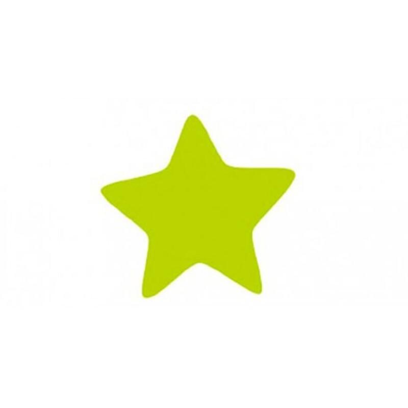 Décors chocolat étoile verte (x70)