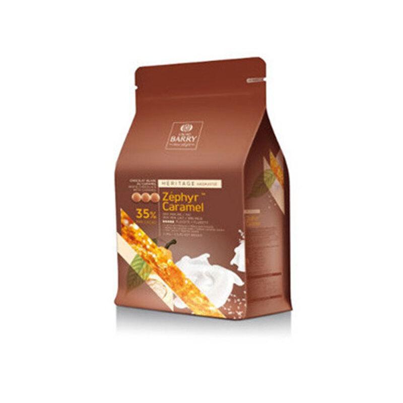 Chocolat Blanc au Caramel Zéphyr pistoles 2,5 Kg