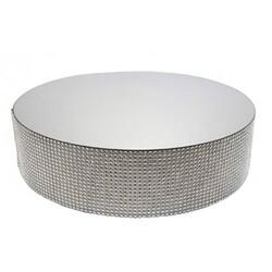 Présentoir gâteau effet miroir et contour en diamants Patisdécor
