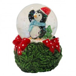 Cake Topper Boule à neige Pingouin Patisdécor