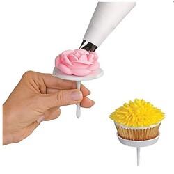 Clous à fleurs et à cupcakes Patisdecor (x4)