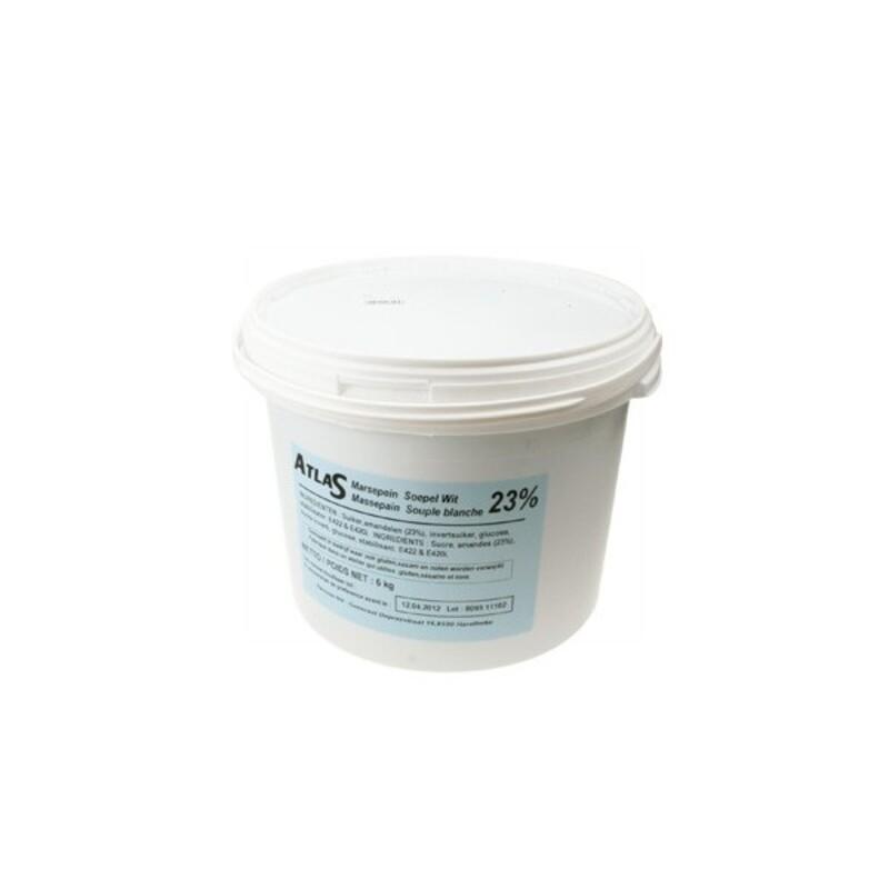 Pâte d'amande labo décor blanche 6 Kg