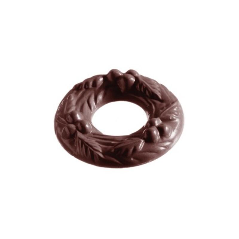 Moule chocolat Couronne de Noël