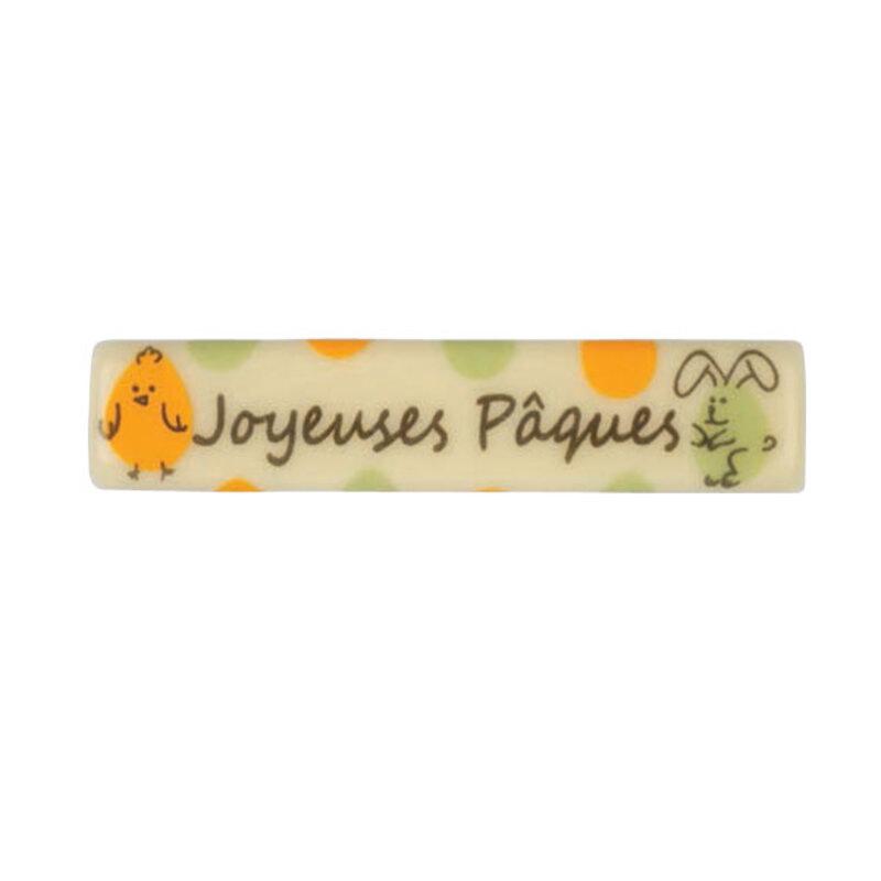 Rectangles chocolat blanc Joyeuses Pâques (x132)