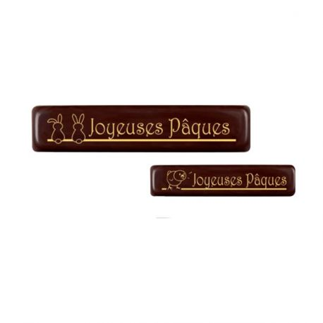 Rectangle chocolat Joyeuses Pâques assortis (x132)